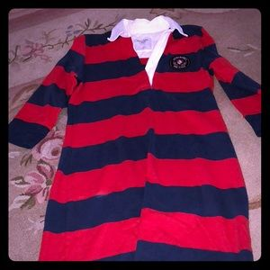 Abercrombie and Fitch Red and Navy Polo Dress!